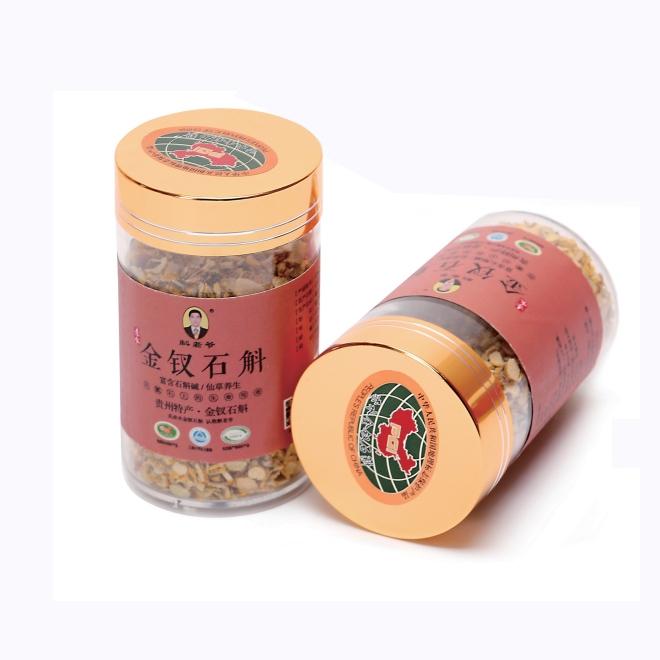 一級金釵石斛切片圓形塑料罐