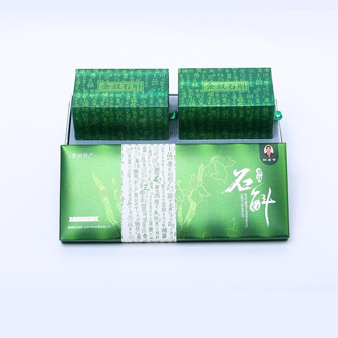 特級金釵石斛切片綠色禮盒裝