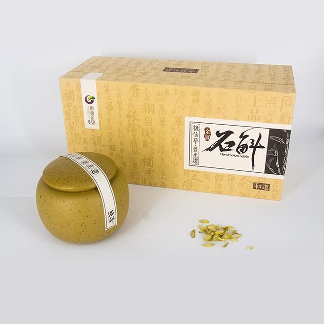 特級金釵石斛切片陶瓷罐禮盒裝